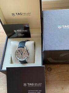 TAG Heuer Carrera Silver Men's Calibre 16 Strap Watch - CAS2111.FC6292