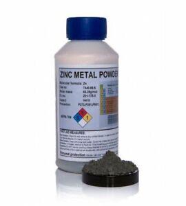 Zinc Metal Powder Zn Zinc Dust 50g - 1kg   super fine high grade 325 MESH