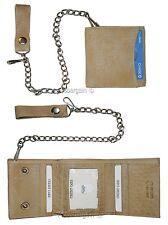 Lot of 2. Biker's Chain Leather Trifold wallet, Motorcycle Trucker Biker wallet