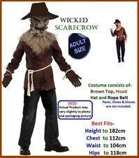 WICKED SCARECROW Halloween Wizard Oz Fancy Dress Costume Party MENS one size NEW