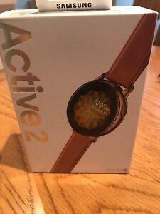 Samsung Galaxy Watch Active 2 44mm Stainless Steel Case SM-R825 Strap.Rose Gold