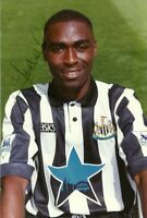 Andy Cole Official Newcastle United FC Hand Signed Photo Seasons 1993-95 Rare