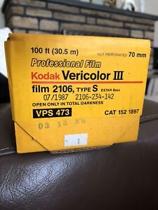 Kodak Vericolor III Professional Film 70mm