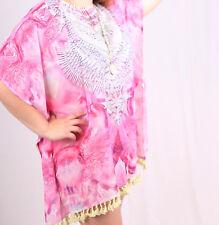 Kaftan Pink with Tassels