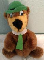 "Vintage 1980 Plush Yogi Bear with Hat and Tie Hanna-Barbera Mighty Star 9"""
