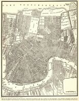 1945 Antique NEW ORLEANS Street Map City Map of New Orleans Louisiana 7692