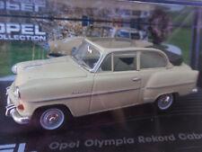 Opel Olympia Rekord Cabrio-Limousine / Modellauto / Beige / unbespielt / 1:43