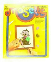 NEW Vintage 1973 Craft Master Crushed Stone Craft Kit-Mosette #20609 Ridin' HIgh