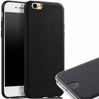 Schwarz  Apple iPhone 7  8 Slim Case Cover Hülle Tasche Handy Schutz Schutzglas