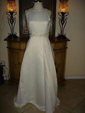 NWT Elegant Scott McClintock IVORY Wedding Dress flower Back Cheap Low Price 6