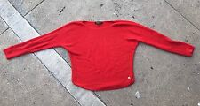 Loro Piano Vibrant Red Cashmere Sweater Size 42