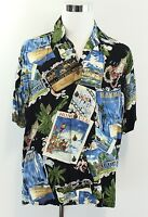 KAHALA Hawaiian Islands Mens L Aloha Shirt Hawaiian Rayon Short Sleeve Size L