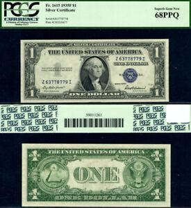 FR. 1615 $1 1935-F Silver Certificate Z-I Block Superb PCGS CU68 PPQ