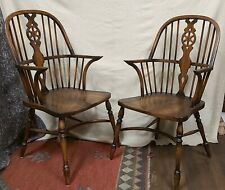 Vintage rare  thomas glenister high back windsor chairs quality