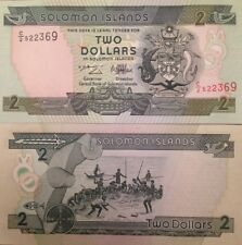 SOLOMON ISLANDS 1997 2 DOLLARS UNCIRCULATED BANKNOTE P-18 FROM A USA SELLER !!!!