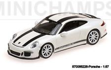 Minichamps 870066226- Porsche 911 R –2016 – White W/ Noir Rayures W / Noir Wr