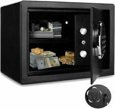 Digital Home Jewelry Cash Security Safe Box Fireproof Electronic Steel Black|