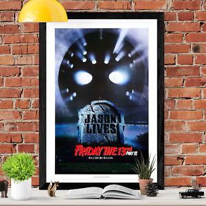 Friday The 13th Horror Movie Poster Print