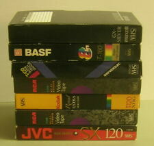 Lot of 7 Mixed Brands of USED VHS Tapes SOLD AS BLANKS -FREE SHIPPING
