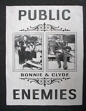 "(858)GANGSTER BONNIE & CLYDE PUBLIC ENEMIES CRIME OUTLAWS NOVELTY POSTER 11""x14"""