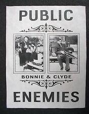 "(858)GANGSTER BONNIE & CLYDE PUBLIC ENEMIES CRIME OUTLAWS NOVELTY POSTER 11""x14"""