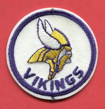 """Minnesota Vikings - Round 3 1/8"""" with Purple Border Embroidered Patch"""