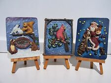 3 Wangs Resin Picture Frames on Easels NEW