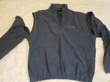 Antigua Budweiser Beer 1/4 zip 2 in 1 Jacket/vest XXL light weight coat blue EUC