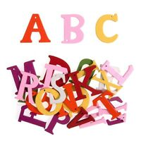 Wooden Coloured Letters 24 Pack Embellishments Craft For Occasions C2181