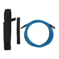 Conjunto De Entrenamiento Natación Piscina Cinturón de herramientas de capacitación de Resistencia Banda Correa Azul