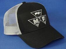 Massey Ferguson Hat - Black Gray Mesh - Triangle Logo