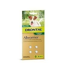 Drontal Dog Allwormer for Small Dogs and Puppies 3kg Tab X 4
