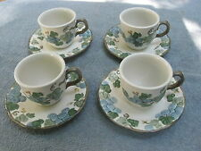 Metlox Poppytrail SCULPTURED GRAPE Cup & Saucer - SET OF FOUR (4) - Lot 1