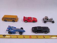 Vintage Mattel Hot Wheels 1979-88 Getty, Black Hawk, Ferrari, Red Baron