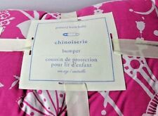 Pottery Barn Chinoiserie Crib Bumper Bedding Nursery Pink Baby Shower Bed NEW