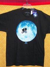 E.T. Black SHIRT The Extra Terrestrial LARGE Flying Bike ET Moon Spielberg NWT