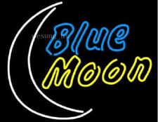 """New Blue Moon Beer Man Cave Lamp Light Neon Sign 24""""x20"""""""