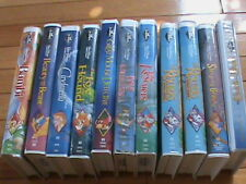 Lot o 11 DISNEY VHS Black Diamond Tapes:BAMBI,BEAUTY AND THE BEAST,CINDERELLA---
