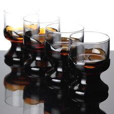 4 schwere Gläser orange gelb braun klar Trinkgläser Vintage Stil ~ 60er 70er
