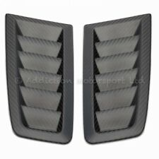 Pair of Ford Focus RS MK2 100% Full 3K Twill Weave Carbon Bonnet Vents in Matte