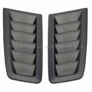 100% Full 3K Twill Weave Carbon Bonnet Vents in Matte for Ford Focus RS MK2