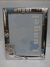 "Cornice portafoto argento silver frame ""I love Angel"" Ardè  13x18 bambino"