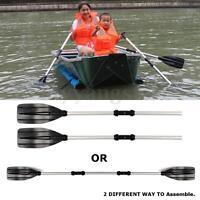1 Pair Aluminum Alloy Detachable Afloat Kayak Oars Paddles Boat Rafting