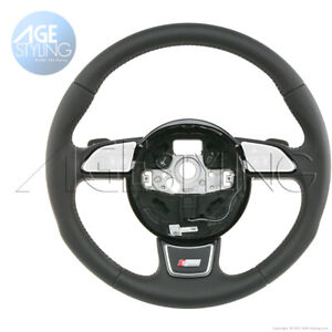 OEM Audi A3 Q3 S-Line Leather Steering Wheel with S-Tronic Gear Paddle Shifters