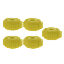 5 Pieces Quick Release Cymbal Plastic Nut for Percussion Instrument Parts Yellow
