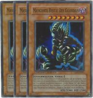 Yu Gi Oh! 9 Maskierte Bestie Des Guardius TAEV-DESE1 Ltd. Auflage Foil 3 Karten!