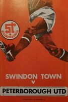 Swindon Town v Peterborough United 1978/79 programme