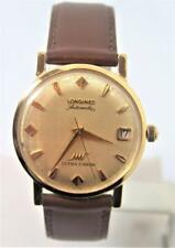 Solid 18k LONGINES ULTRA-CHRON Automatic Watch c1972 Cal.431 EXLN Cond* SERVICED