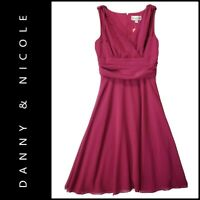 Danny & Nicole Women Sleeveless Cocktail Formal Fit & Flare Dress Size 10