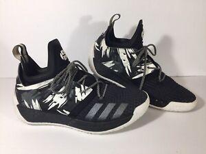 Adidas James Harden Vol 2 Traffic Jam Black White  Size 9.5 Basketball II AH2217